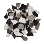 Cserép mozaik fekete - fehér /  500 g