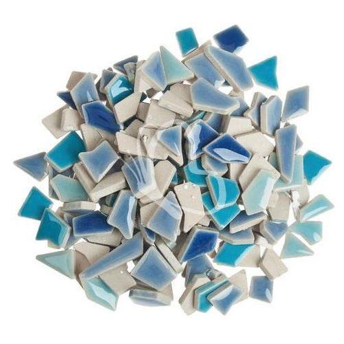 Mozaik cserépdarabok mini 200 g kék mix