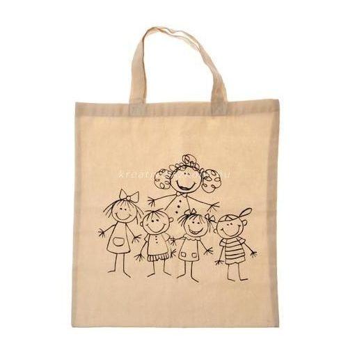 Lenvászon táska, család