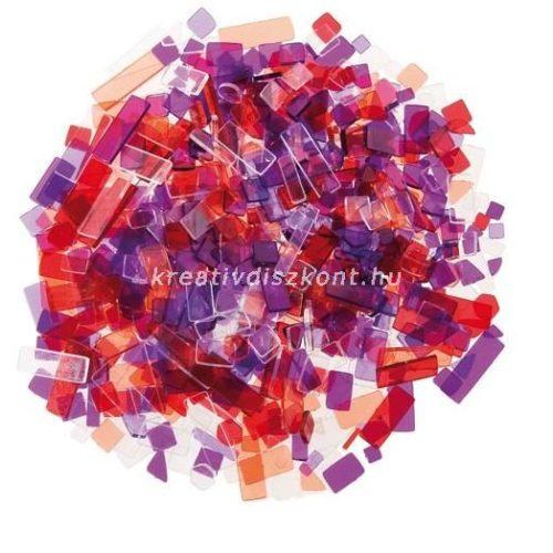 Mozaiklapok akril 100 g lila-piros mix