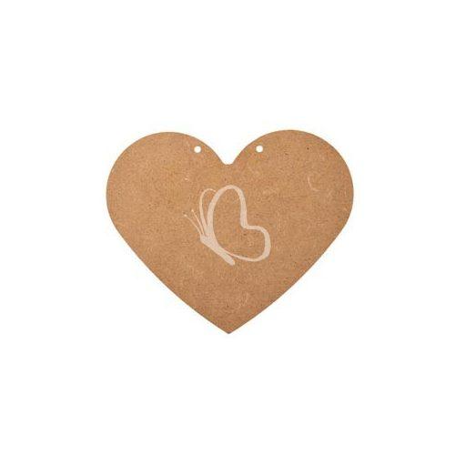 MDF szív 2 lyukkal