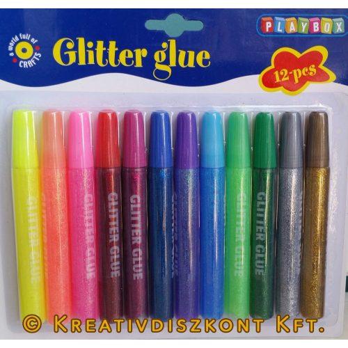 Glittertoll  12 db vegyes színekben / csomag