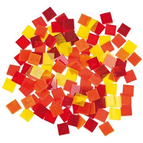 Tiffany mozaiklapok 200 g sárga-piros mix