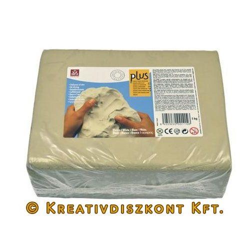 Plus® Levegőn száradó agyag fehér 5 kg