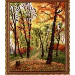 Keresztszemes készlet, Őszi sétány 41x48 cm