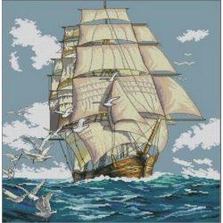 Keresztszemes készlet Vitorlás hajó 40x50 cm