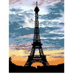 Keresztszemes készlet, Eiffel torony 32x42 cm