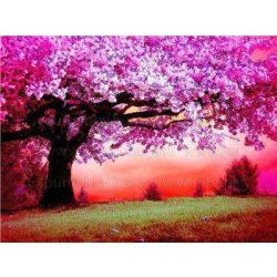 Festés számok után, Cseresznyefa virágzás 40x50 cm