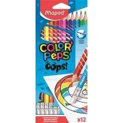 """Maped Színesceruza radírozható """"Color Peps Oops"""" 12db"""