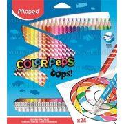 """Maped Színesceruza radírozható """"Color Peps Oops"""" 24db"""