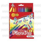 """COLOKIT Filctoll készlet """"FibrePen"""" 12 különböző szín"""
