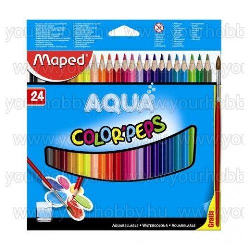 """MAPED """"Color Peps"""" Akvarell ceruza készlet háromszögletű ecsettel 24 szín"""
