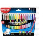 """Filctoll készlet, MAPED """"Color'Peps"""", 18  szín"""