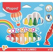 "Filctoll készlet, 1- 5 mm,  MAPED ""Color'Peps Maxi"", 12  szín"