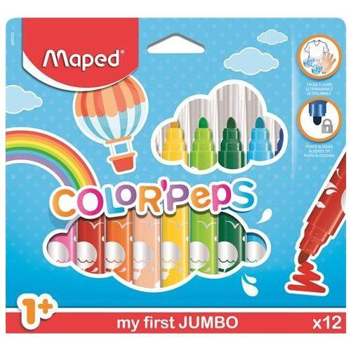 """Filctoll készlet, 1- 5 mm,  MAPED """"Color'Peps Maxi"""", 12  szín"""