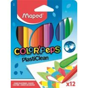 "MAPED Zsírkréta ""Color'Peps"" PlastiClean 12 szín"