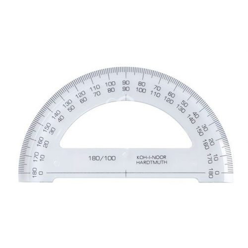 KOH-I-NOOR Szögmérő műanyag 180 °-os