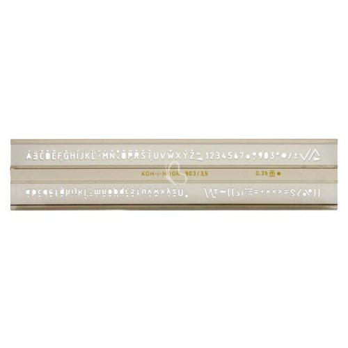 KOH-I-NOOR Betűsablon 3,5 mm