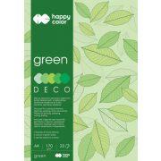 Happy Color Színes papírkészlet A4 170g 20 lap 5 árnyalat - Zöld