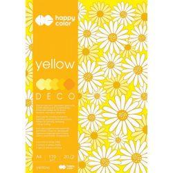 Happy Color Színes papírkészlet A4 170g 20 lap 5 árnyalat - Sárga
