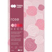 Happy Color Színes papírkészlet A4 170g 20 lap 4 árnyalat - Rózsaszín-piros