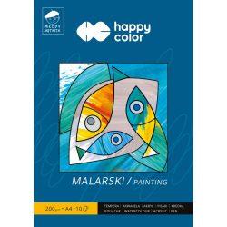 Happy Color Papírtömb festéshez 200g A4 10 lap