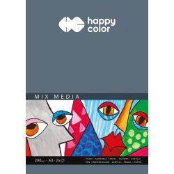 Happy Color Mixed Media papírtömb 200g A3 25 lap