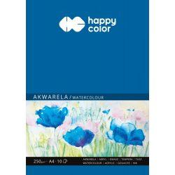 Happy Color Akvarell papír blokk 250g A4 10 lap
