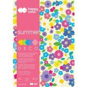 Happy Color Színes papírkészlet A4 170g 20 lap 5 árnyalat - Nyár