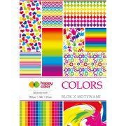 Happy Color Mintás papírkészlet 80g A4 15 lap 26 minta - Színes