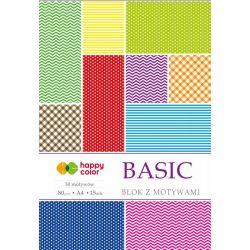Happy Color Mintás papírkészlet 80g A4 15 lap 30 minta - Alapminták