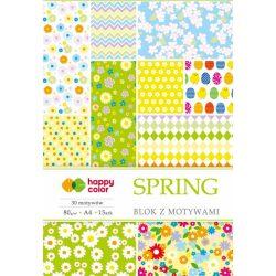 Happy Color Mintás papírkészlet 80g A4 15 lap 30 minta - Tavasz