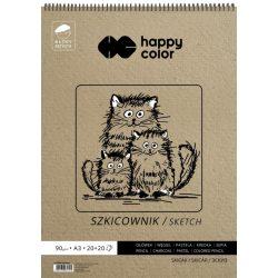 Happy Color Spirálos művész vázlatfüzet 80/90g A3 40 lap