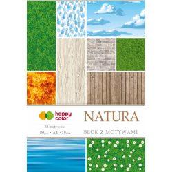 Happy Color Mintás papírkészlet 80g A4 15 lap 30 minta - Természet