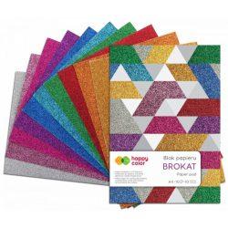 Happy Color Glitteres papírkészlet 150g A4 10 lap 10 vegyes szín