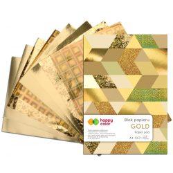 Happy Color Díszpapír készlet 150-230g A4 10 lap Arany