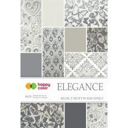 Happy Color Effekt díszpapír készlet 170-220g 20x29 cm 10 lap Elegáns