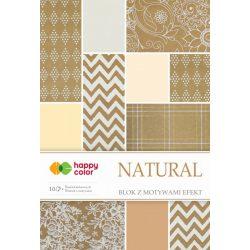 Happy Color Effekt díszpapír készlet 170-220g 20x29 cm 10 lap Természetes