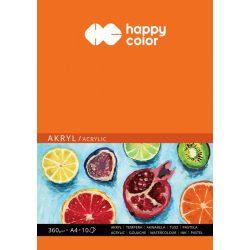 Happy Color Akriltömb 360g A4 10 lap