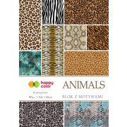 Happy Color Mintás papírkészlet 80g A4 16 lap 16 minta - Állatok