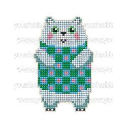 Collection D'Art Gyémántszemes kirakó mágnes készlet pulcsis jegesmedve