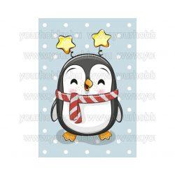 Collection D'Art Prémium Gyémántszemes kirakó készlet Pingvin fiúcska 19x27 cm
