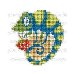 Collection D'Art Gyémántszemes kirakó mágnes készlet Kaméleon