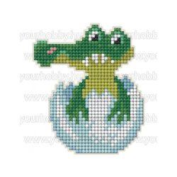Collection D'Art Gyémántszemes kirakó mágnes készlet Aligátor