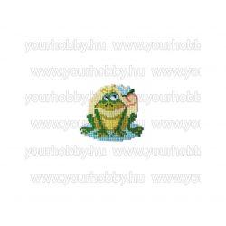 Collection D'Art Gyémántszemes kirakó mágnes készlet Zöld béka
