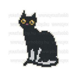 Collection D'Art Gyémántszemes kirakó mágnes készlet Fekete cica