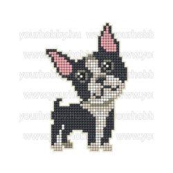 Collection D'Art Gyémántszemes kirakó mágnes készlet Bulldog