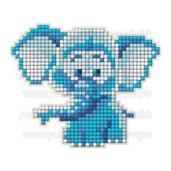 Collection D'Art Gyémántszemes kirakó mágnes készlet Elefánt