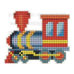 Collection D'Art Gyémántszemes kirakó mágnes készlet Kis mozdony
