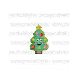 Collection D'Art Gyémántszemes kirakó mágnes készlet mosolygós karácsonyfa